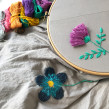 Upcycled dress with floral embroidery. A Embroider project by Kseniia Guseva - 02.28.2020