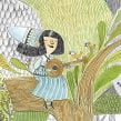 Jardín de Lana/ Microrelato silente. A Illustration, and Children's Illustration project by Paula Bossio - 04.01.2016