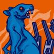 Gig Poster : Battles. Um projeto de Design, Ilustração, Design gráfico, Design de cartaz e Ilustração digital de Mike Sandoval - 20.02.2020