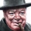 Winston Churchill (El Mundo). A Drawing, Watercolor Painting, Portrait illustration, Portrait Drawing, Realistic drawing, and Artistic drawing project by Carlos Rodríguez Casado - 03.16.2020
