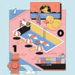 GQ México y LATAM - Marzo 2020. A Illustration, Vector Illustration, and Digital illustration project by Jorsh Peña - 03.18.2020