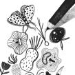 CUENTOS DE TERROR: LA ABUELA NOS ESPERA. Un proyecto de Ilustración digital e Ilustración infantil de Jimena Estíbaliz - 05.06.2018