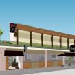 SketchUp - Restaurante em São Vicente - SP. Um projeto de Arquitetura, Arquitetura de interiores, Design de interiores, Modelagem 3D, Arquitetura digital e 3D Design de Guilherme Coblinski Tavares - 10.02.2015