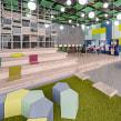 SketchUp e V-Ray- Escritório / Lounge. Un projet de Design , Architecture d'intérieur, Design d'intérieur, Modélisation 3D, Conception 3D et Illustration architecturale de Guilherme Coblinski Tavares - 10.02.2019
