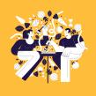 Food!. Un proyecto de Diseño, Ilustración y Diseño de personajes de Manuel Neto - 15.04.2020