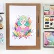 Bosque. Un proyecto de Ilustración, Dibujo, Pintura a la acuarela e Ilustración infantil de Alinailustra - 15.03.2020