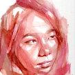 Retrato de Katherin. A Watercolor Painting project by Ale Casanova - 04.30.2020