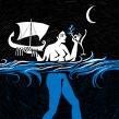 Negra la brisa lluent. Un proyecto de Ilustración de Ina Hristova - 01.05.2020