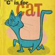 """""""C"""" is for CAT . Um projeto de Ilustração, Ilustração digital e Ilustração infantil de Ed Vill - 18.05.2020"""