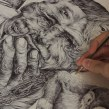 Distorsión de la realidad: Minas Anti-persona. A Illustration, Portrait illustration, Botanical illustration & Ink Illustration project by Ricardo Macía Lalinde - 05.20.2020