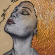 Retrato bordado amarillo. Un projet de Illustration, Artisanat, Dessin au cra, on, Illustration de portrait, Broderie, Dessin de portrait, Dessin réaliste , et Dessin artistique de Yamila Yjilioff - 23.05.2020