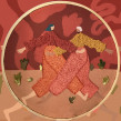 Danza. Un projet de Illustration, Artisanat, Dessin, Illustration numérique, Broderie , et Dessin numérique de Yamila Yjilioff - 23.05.2019