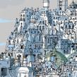 Paris roofs. Um projeto de Ilustração e Ilustração Arquitetônica de Carlo Stanga - 25.05.2020