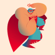 Nacho Libre. A Illustration, Character Design, and Digital illustration project by Nathan Jurevicius - 05.31.2020