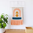 Tapiz Creta. Un projet de Illustration textile, Décoration d'intérieur, Tissage, DIY , et Crochet de Flor Samoilenco - 01.06.2019