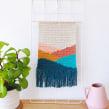 Tapiz Hills. Un projet de Design , Illustration textile, Décoration d'intérieur , et Tissage de Flor Samoilenco - 01.11.2020
