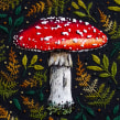 The Fly Agaric Mushroom . A Embroider project by Emillie Ferris - 07.16.2018
