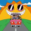 Kaiser Chiefs 'People Know' . Um projeto de Música e Áudio, Design de personagens, Animação de personagens, Animação 2D e Ilustração digital de Rob Flowers - 01.08.2019