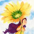 PESSOAL • voando no girassol. Un progetto di Illustrazione, Illustrazione infantile e Illustrazione con inchiostro di Juliana Rabelo - 04.08.2020