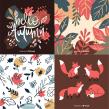 Autumn & Winter vector illustration resources for Freepik. Un proyecto de Ilustración, Lettering, Ilustración vectorial, Ilustración digital, Ilustración infantil y Lettering digital de Alinailustra - 13.08.2019