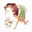 Cherry Salmon Mermay. Un progetto di Illustrazione, Illustrazione digitale e Illustrazione infantile di Gemma Gould - 04.05.2020