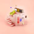 Mool / Escenarios simples y surreales. Un progetto di Illustrazione, 3D, Direzione artistica , e Design industriale di Francisco Cortés - 01.09.2020