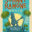 Come to visit... Johnny Ramone Grave!. Um projeto de Publicidade, Tipografia, Comic, Ilustração digital, Concept Art, Design digital e Pintura digital de Ed Vill - 02.09.2020