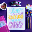 As long as you are happy, who cares?. A Lettering project by Pauli Rodríguez - 09.07.2020