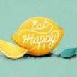 Eat Happy. Un proyecto de Ilustración, Animación 2D, Animación 3D, Ilustración digital y Diseño tipográfico de Itsacat&Goodog - 20.09.2020