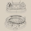Estadios - Rompecabezas 3D. A Industriedesign project by Diego Fernández - 29.09.2020