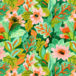 Estampas em aquarela - Projeto pessoal. A Pattern Design, and Watercolor Painting project by Luiza Normey - 10.14.2020
