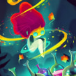 Brujas Neón. Um projeto de Ilustração, Design de personagens e Ilustração digital de Gaby Zermeño - 19.10.2020