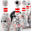 Bowling!. A Illustration, Acr, and lic Painting project by Akimaro - 06.17.2015