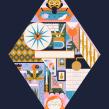 House Beautiful (Interior Designers). Un projet de Illustration, Illustration vectorielle, Illustration numérique et Illustration éditoriale de Owen Davey - 01.07.2020