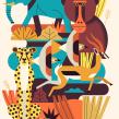 Safari Notebook Design. Un projet de Design , Illustration, Illustration vectorielle et Illustration numérique de Owen Davey - 12.03.2020