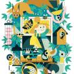 Wildlife From My Window. Un projet de Illustration, Illustration vectorielle, Illustration numérique et Illustration éditoriale de Owen Davey - 10.05.2020
