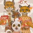 Wes Anderson: A tribute to love. Um projeto de Ilustração, Ilustração digital e Ilustração de retrato de German Gonzalez Ramirez - 11.11.2020