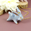 Bunny Necklace in Polymer Clay. A Fine Art, Jewelr, Design, and Sculpture project by Marisa Clemente - 07.02.2019