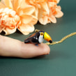 Toucan Necklace in Polymer Clay. A Fine Art, Jewelr, Design, and Sculpture project by Marisa Clemente - 04.17.2019