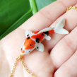 Koi Necklaces in Polymer Clay. A Fine Art, Jewelr, Design, and Sculpture project by Marisa Clemente - 06.04.2018
