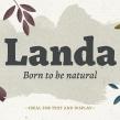 Diseño de Tipografía Landa . Un proyecto de Diseño tipográfico de Pablo Alaejos - 31.08.2017