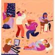 Editorial illustrations: Dagens Nyheter. Un proyecto de Ilustración, Diseño editorial, Ilustración digital e Illustración editorial de Emma Hanquist - 11.12.2020