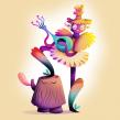 Haberlea (Orpheus Flower). Un progetto di Illustrazione, Illustrazione vettoriale, Illustrazione digitale, Arte concettuale e Illustrazione infantile di Nathan Jurevicius - 28.12.2020