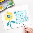 Colección: Letras y acuarelas botánicas . Um projeto de Caligrafia, Lettering, Pintura em aquarela, Ilustração botânica, H e lettering de Letters by Jess - 04.01.2021