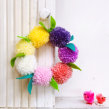 Mini Springtime wreath. A Crafts project by Christine Leech - 01.09.2021