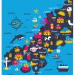 Cornwall Maps. Un proyecto de Ilustración, Ilustración digital, Ilustración infantil e Illustración editorial de Melanie Chadwick - 11.01.2021