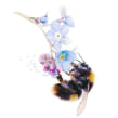 New bumble bee commission for a special client . A Watercolor Painting project by Sarah Stokes - 01.14.2021