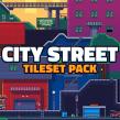 Pixel Art Tileset: City Street. Un proyecto de Videojuegos, Pixel art, Diseño de videojuegos y Desarrollo de videojuegos de Daniel Benítez - 22.08.2019