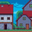 Mi Proyecto del curso: Creación de escenarios pixel art para videojuegos. Un proyecto de Videojuegos, Pixel art, Diseño de videojuegos y Desarrollo de videojuegos de Daniel Benítez - 22.01.2021