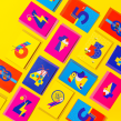 Typographic illustrations - numbers . Un projet de Illustration, Lettering, Illustration vectorielle, Illustration numérique, Illustration jeunesse , et Lettering digitale de Sarah Lewis - 05.02.2021